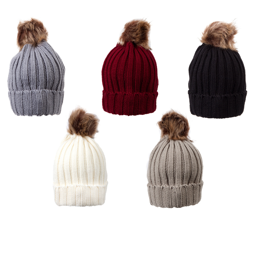 Ladies Raccoon Fake Fur Beanie Hat – Louise23 edcaa92e4cb